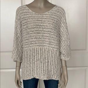 J. Jill Pure Jill Kimono Sleeve Cotton Sweater